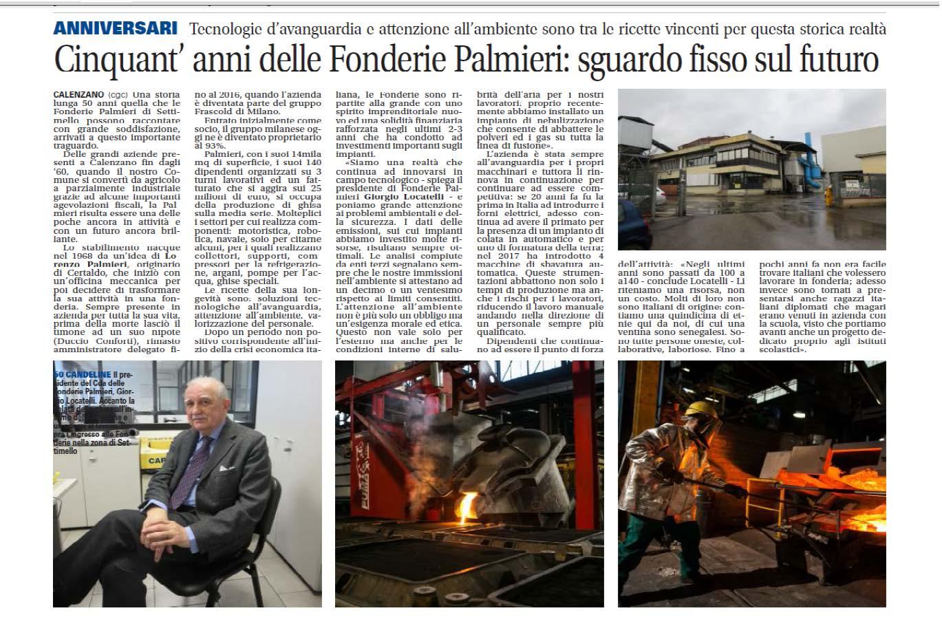 Zeitungsartikel 50 Jahre Palmieri